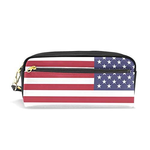 jstel Normal Amerika Flagge Muster Schule Bleistift Tasche für Kid Jungen Kinder Teens Stifthalter Kosmetik Make-up-Tasche Frauen Haltbare Stationery Pouch Bag großes ()