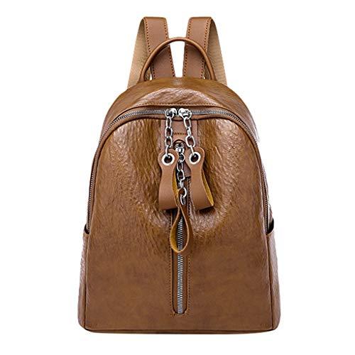 Marc Jacobs Tasche Braun (jfhrfged Damenmode einfarbig Rucksack multifunktions praktische Rucksack reißverschluss Rucksack geschwungene Schultergurt Quadrat Tasche (Braun))
