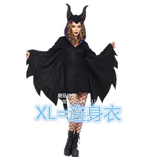 Neue Superman Kostüm - SUIZNS Halloween-kostüm Europäische Und Amerikanische Frauen Modell Erwachsene Fledermaus Vampir Kostüm Superman Kostüm XL Neue Fledermäuse