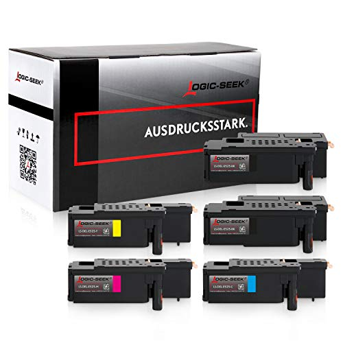 5 Logic-Seek Toner kompatibel zu Dell E525w LED-Farblaser-Multifunktionsdrucker