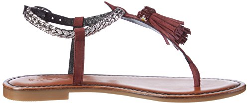 Inuovo Damen 7308 Zehentrenner Rot (BORDEAUX-PEWTER)