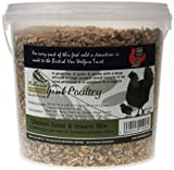 Natures Grub Chicken Seed & Insect Mix - A mix of the top quality grains and seeds with the addition of large quantities of dried insects.
