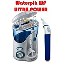 "Waterpik WP100 ULTRA + POWER (Version Française) Hydropulseur / Jet dentaire Mono jet / Waterjet à 6,2 bars - Livré avec le stylo à bille ""Zen"" d'Arkébion"