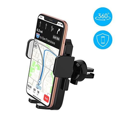 yoozon Handyhalterung Auto Lüftung, 360°Drehbar Auto Handyhalter, Smartphone KFC Halterung für iPhone XS MAX/XR/XS/X/ 8/ 8Plus/ 7/ 7Plus,Samsung Galaxy s10/S9/S8/S7/ und Fast Jede andere Handy
