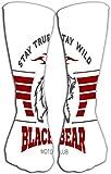 nchengcongzh Outdoor Sport Herren Damen High Socks Wildfree Vintage Typographie Kopf Grizzly Bear Print n White Hintergrund Fliesenlänge 50 cm Trend 7127