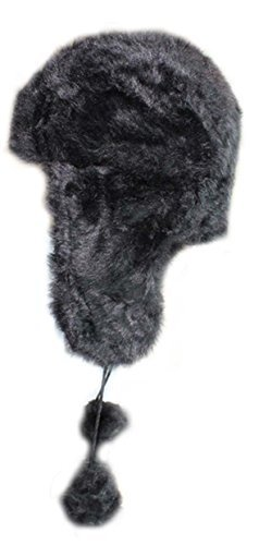 Ladies Faux Fur Trapper Russian Fashion Hat With Pom-Poms Winter Ski
