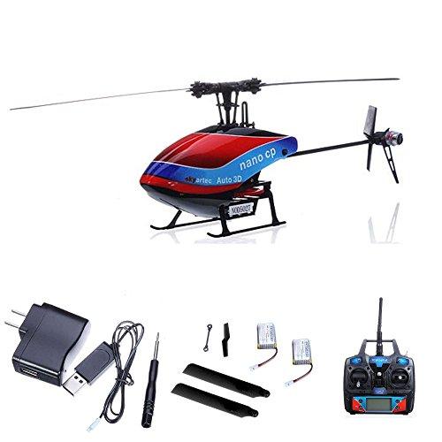 HSP Himoto 6-Kanal 2.4GHz Wasp CP Auto 3D Flybarless-Edition RC ferngesteuerter Helikopter, Heli Gyro-Technik, Ready-to-Fly, Hubschrauber mit 2,4GHz-Technik, RTF inkl. Mega Ersatzteil-Set