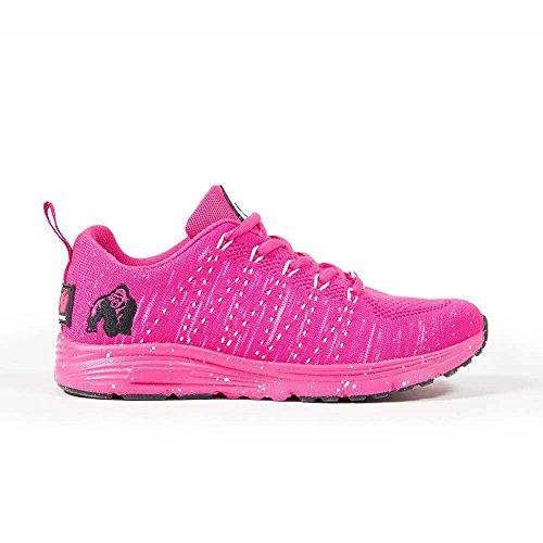 Gorilla Wear Brooklyn Knitted Sneakers - Pink/White - pink/weiß - Bodybuilding und Fitness Schuhe für Damen, EU 40
