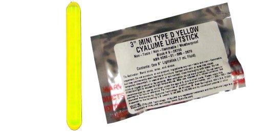 Cyalume Mini chemlight Military Grade Light Stick, 7,6cm Länge, 4Stunde Dauer, gelb (25Stück)