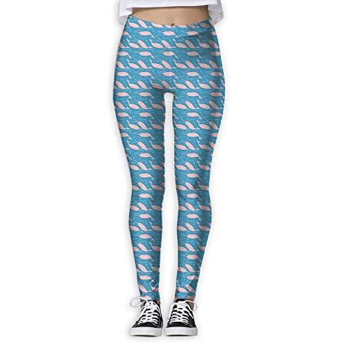 QIAOJIE-High Waist Ultra Soft Lightweight Leggings, Women's Yoga Pants Abstractsky Blue Workout High Waist Capris Leggings Danskin Womens Crop