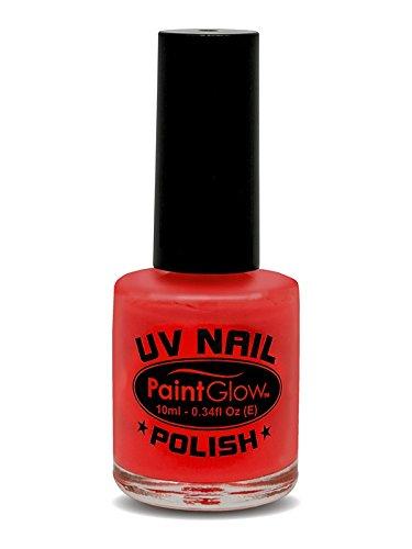 Smiffy's - UV esmalte de uñas, 12 ml, color rojo (46028)