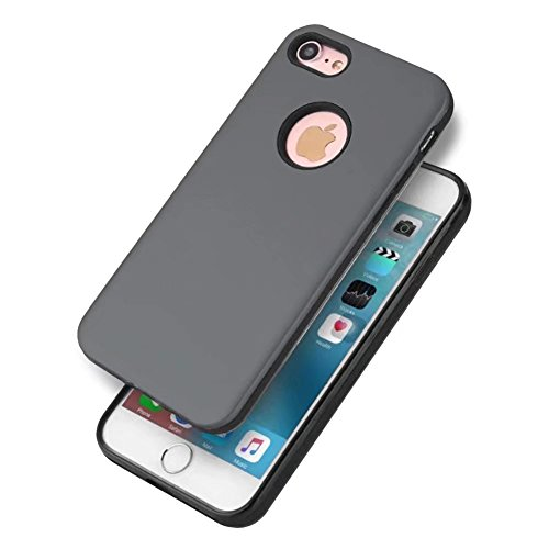 """iPhone 6 Plus Case, VMAE Lightweight Slim 2in1 Armor Cover, Double Layer Hybrid Full Body Protection Soft TPU Rugged Anti Scratches Bumper Case for iPhone 6 Plus/Iphone 6s Plus 5.5"""" - Gold Grey"""