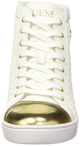 Guess Gloria, Chaussures de Gymnastique Femme Blanc Cassé (Bianco)