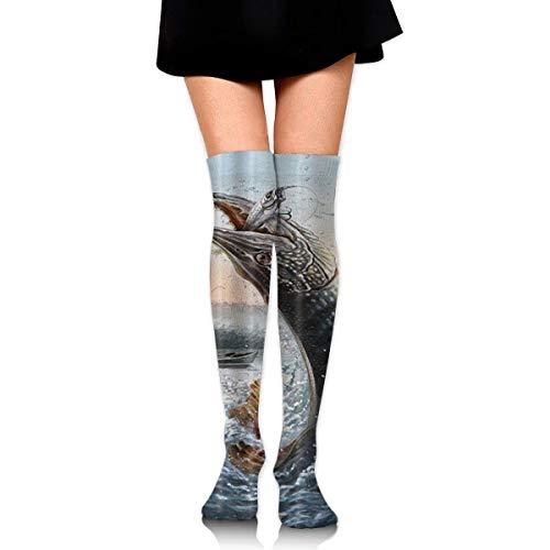Knee High Graduated Compression Socks for Unisex - Best Medical, Nursing, Travel & Flight Socks - Running & Fitness ()