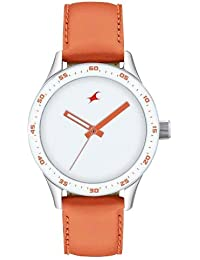 Fastrack Monochrome Analog White Dial Women's Watch-NK6078SL04