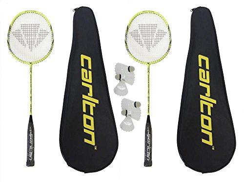 2 x Carlton Razorblade Pro Badminton Schläger + 6 Carlton federball