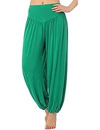 Mujer Pantalones Harén - Color Sólido Cintura Elástico Pantalón Moda Casual Slim Pantalones para Deportes Yoga Pilates Tallas Grandes