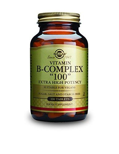 """Solgar - B-Complex """"100"""" Tablets - 100 comprimés"""