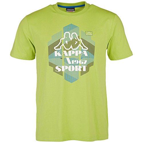 Kappa, Maglietta Uomo Tadeo a maniche corte, Verde (Green Glow), M