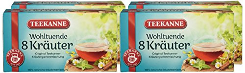 Teekanne – 8 Kräuter, 20 Doppelkammerbeutel, 4er Pack (4 x 40 g Packung)
