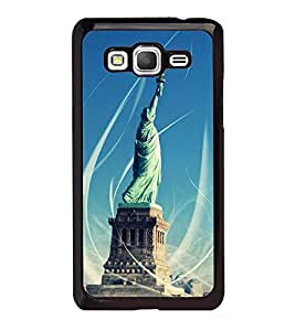 Fuson Designer Back Case Cover for Samsung Galaxy Grand Prime :: Samsung Galaxy Grand Prime Duos :: Samsung Galaxy Grand Prime G530F G530Fz G530Y G530H G530Fz/Ds (Statue Statue Of Liberty Liberty Enlightening world Iconic Statue Statue With Lights)