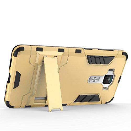 Asus ZenFone 3 Deluxe ZS550KL Gehäuseabdeckung, 2 in 1 Neue Armor Tough Style Hybrid Dual Layer Rüstung Defender PC Hard Case Rückseite mit Ständer Shockproof Für Asus ZenFone 3 Deluxe ZS550KL ( Color Gold