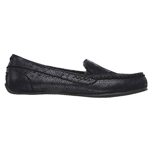 BOBS from Skechers Women's Cozy JR Sole Food Flat 33878 Black 10 Black Leather