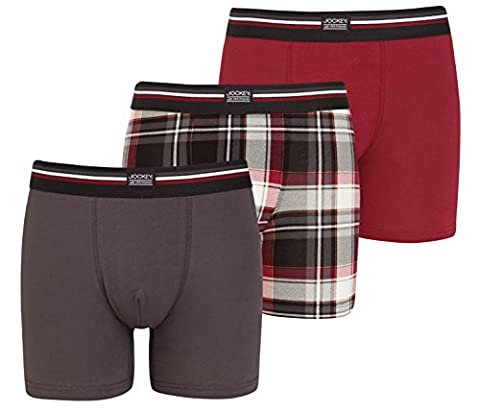 Jockey® Boxer Trunk 3Pack, Red Wine, Size S
