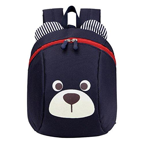 Rucksack Kinder Weitermachen, (Anti-verlorene Kindergarten -Rucksack Netter Hund-Kind-Schule-Beutel-Tiefes Blau)
