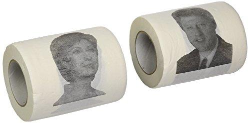 Fairly Odd Novelties Bill and Hillary Clinton Combo Pack Novelty Toilet Paper