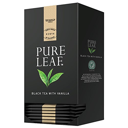Pure Leaf Black Tea with Vanilla 6 x 25 Enveloped Pyramid Bags (Total 150 Servings)