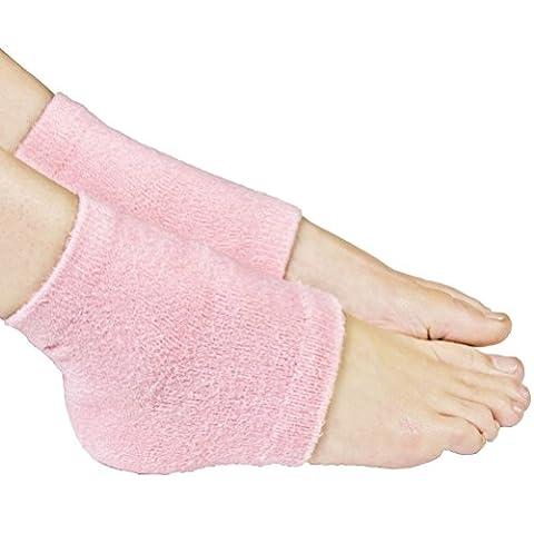ROSENICE Moisturising Socks Aloe Socks Gel Heel for Spa Open Toe Socks Comfy Recovery Socks 1 Pair