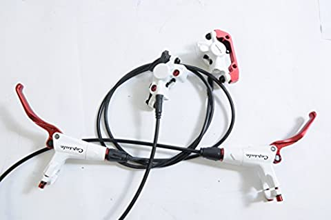 PROMAX CAPSULE DSK908 WHITE HYDRAULIC DISC BRAKE SET FRONT 800mm REAR 1275mm SUITS UK or EURO