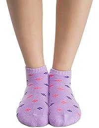Clovia Women's Short Ankle Socks In Lavender