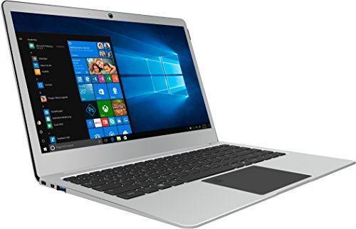 TrekStor 34857 (14,1 Zoll) 35,81 cm Notebook (Intel Celeron N3350, 256GB SSD, 4GB RAM, Intel HD Graphics 500, Win 10 Home) Silber