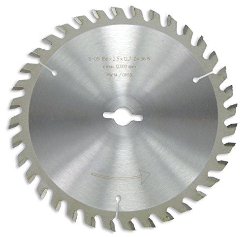 Preisvergleich Produktbild HM / HW Sägeblatt mit Wechselzahn 156 x 12,7 mm mit 36 Zähnen Made in Germany (OR10)