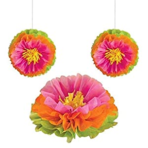 Amscan International - 180097 Fluffy hawaiano flores Kit de decoración