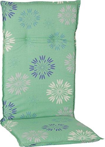 Beo Gartenmöbel Auflage für Hochlehner in Pusteblumen Mint grün