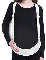 HTTMYY Soutien Maternité Ventre Ceinture PréNatale Grossesse Post-Partum Bretelles ThéRapie Posture éLastique Respirant
