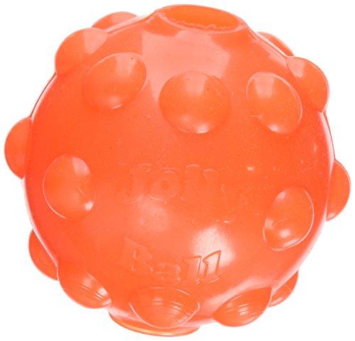 Hund Ball Spielzeug Glow (Jolly Pets Jumper Ball Hundespielzeug, elastischer Ball mit Leuchtfunktion, 7,5cm)