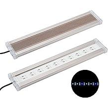 NICREW DeluxeLED Pantalla LED de Acuario, Luz LED de Acuarios y Peceras, Lámpara Tanque Plantados, Iluminación LED para Acuario de Aluminio, 40-55 cm, 13W, 7500 K, 850 LM