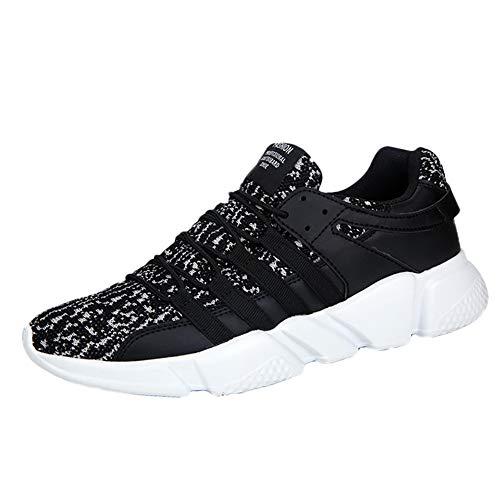 Manadlian Basket Sneakers Hommes pour Running Chaussures de Course Lacets Air Coussin Chaussures de Running Baskets 2cm