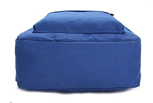 Greeniris le donne lo zaino causale tela scuola dello zaino per donne/ragazze adolescenti Profondo blu Profondo blu