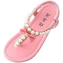 YWLINK Sandalias La Moda Plano Zapatos De Verano De Comercio Exterior con Cuentas Lindas con Arco