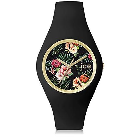 Ice-Watch - ICE.FL.COL.S.S.15 - Montre Mixte - Quartz - Analogique - Bracelet Silicone noir