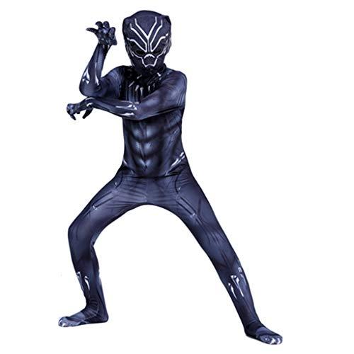 Themed Kostüm Black - Yujingc Wunderheld Schwarzer Panther Cosplay Kostüm Kinder Halloween Weihnachten Bodysuit Abendkleid Jumpsuits Kleidung Themed Party Filmrequisiten,Black,M