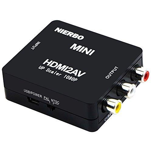 HDMI a AV RCA, convertidor de señal HDMI compatible con USB, convertidor de señal HDMI a AV RCA, soporte de conmutador PAL / NTSC