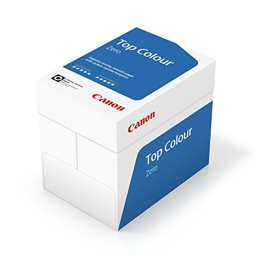 Canon Deutschland Top Colour Zero Farbkopierpapier, 5x 500 Blatt FSC zertifiziert, CO2-neutral, A4, 100 g/m², alle Drucker hochweiß CIE 164 (optimierte Schutzverpackung)