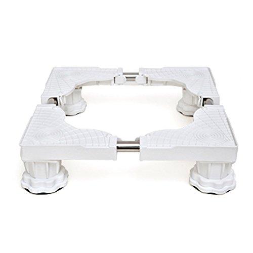 Verstellbar Mobile Base (Verstellbare Mobile Base Multifunktionale Bewegliche Basis Feuchtraumhalterung Verdickungsständer Versenkbares Stahlrohr Einstellbare Gerätesockel,White-C)