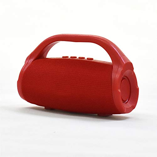 Xyxiaolun Tragbare Lautsprecher, Mini-Multifunktionskarte Tragbare steckbare Karte mit drahtlosen FM-Radio-Bluetooth-Autolautsprechern,Red (Fm-bluetooth Drahtlosen)